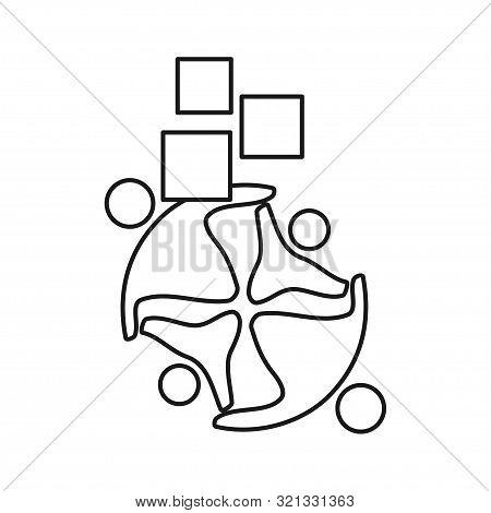 Application Technology Commitment Teamwork Together Outline Logo