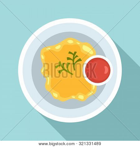 Yellow Thai Food Icon. Flat Illustration Of Yellow Thai Food Vector Icon For Web Design