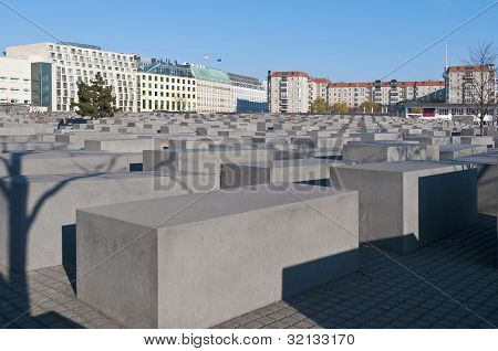 The Denkmal Fur Die Juden Ermordeten Europe  At Berlin, Germany