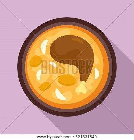 Chicken Leg Thai Food Icon. Flat Illustration Of Chicken Leg Thai Food Vector Icon For Web Design