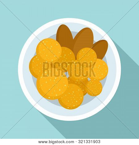 Thai Food Cutlet Icon. Flat Illustration Of Thai Food Cutlet Vector Icon For Web Design
