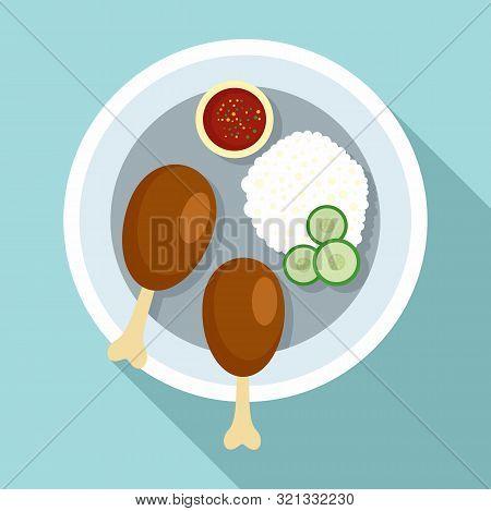 Thai Food Rice Icon. Flat Illustration Of Thai Food Rice Vector Icon For Web Design