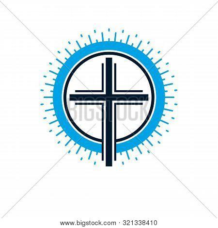 Christian Cross True Belief Vector Religion Symbol, Christianity Jesus Icon.
