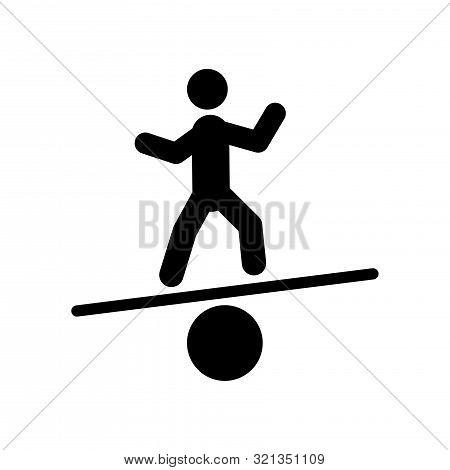 balancing line icon on white background. sign symbol