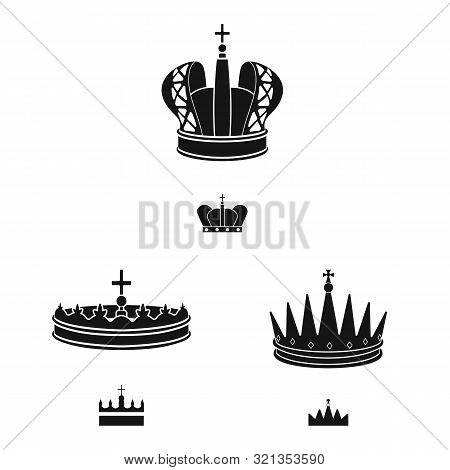 Isolated Object Of King And Majestic Logo. Collection Of King And Gold Stock Symbol For Web.