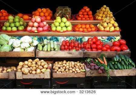 Vegetable & Fruit Market Stall