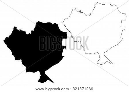 Cordillera Department (departments Of Paraguay, Republic Of Paraguay) Map Vector Illustration, Scrib
