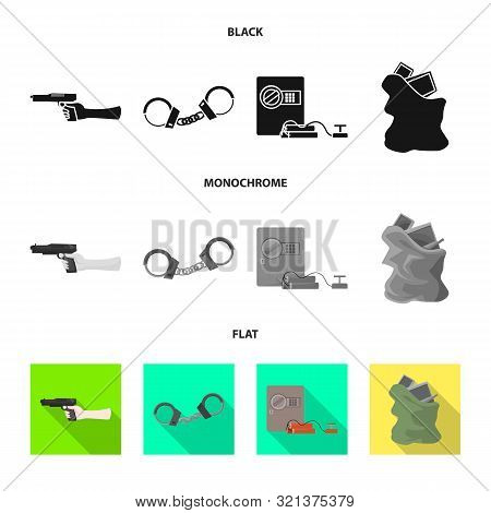 Isolated Object Of Crime And Steal Sign. Collection Of Crime And Villain Vector Icon For Stock.