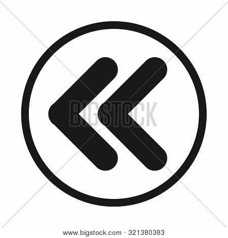 Back Icon, Flat Illustration Of Back, Vector Icon, Back Sign Symbol – Vector