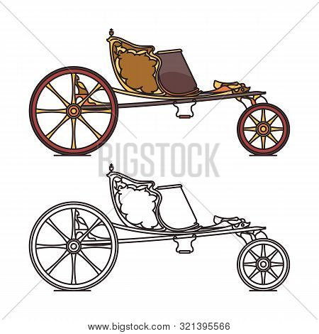 Classic Retro Carriage Or Vintage Open Chariot