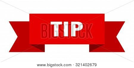 Tip Ribbon. Tip Isolated Sign. Tip Banner