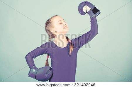 With Great Power Comes Great Responsibility. Boxer Child In Boxing Gloves. Rise Of Women Boxers. Fem