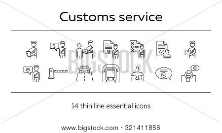 Customs Service Icons Vector & Photo (Free Trial) | Bigstock