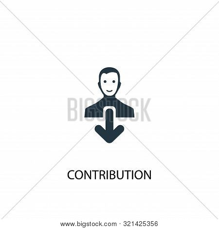 Contribution Icon. Simple Element Illustration. Contribution Concept Symbol Design. Can Be Used For