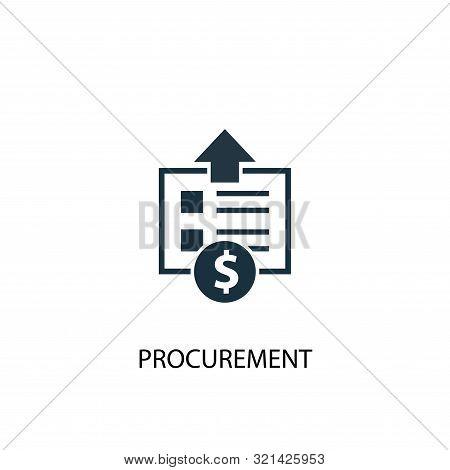 Procurement Icon. Simple Element Illustration. Procurement Concept Symbol Design. Can Be Used For We