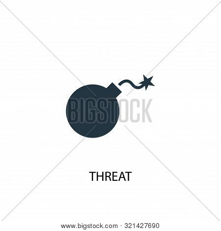 Threat Icon. Simple Element Illustration. Threat Concept Symbol Design. Can Be Used For Web