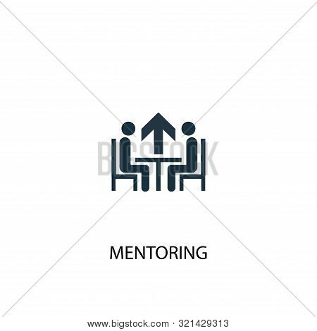 Mentoring Icon. Simple Element Illustration. Mentoring Concept Symbol Design. Can Be Used For Web