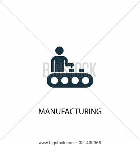 Manufacturing Icon. Simple Element Illustration. Manufacturing Concept Symbol Design. Can Be Used Fo