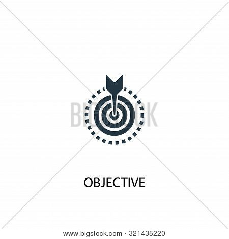 Objective Icon. Simple Element Illustration. Objective Concept Symbol Design. Can Be Used For Web