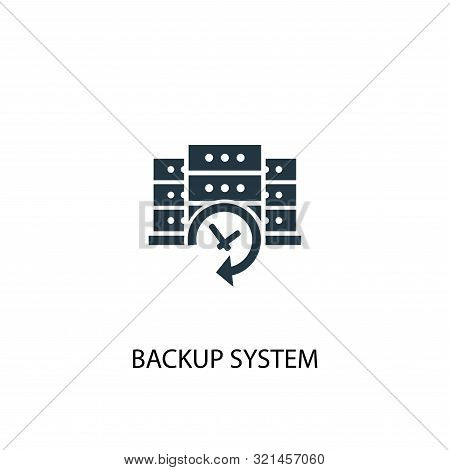 Backup System Icon. Simple Element Illustration. Backup System Concept Symbol Design. Can Be Used Fo