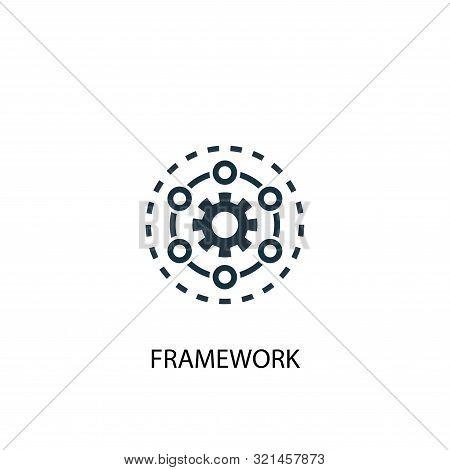 Framework Icon. Simple Element Illustration. Framework Concept Symbol Design. Can Be Used For Web