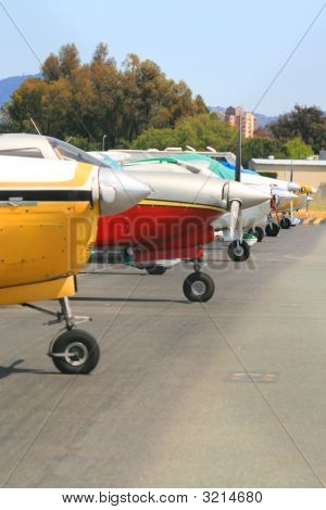 Row Of Airplanes