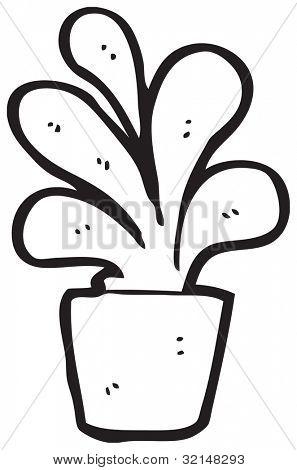 cartoon house plant