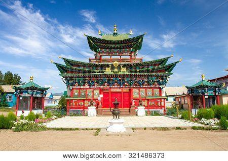 Ivolginsky Datsan Monastery Is The Buddhist Temple Located Near Ulan-ude City In Buryatia, Russia.
