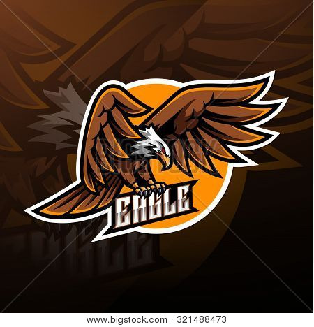 Eagle Sport Mascot Logo Design With Text