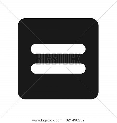 Equal Icon, Flat Illustration Of Equal, Vector Icon, Equal Sign Symbol – Vector