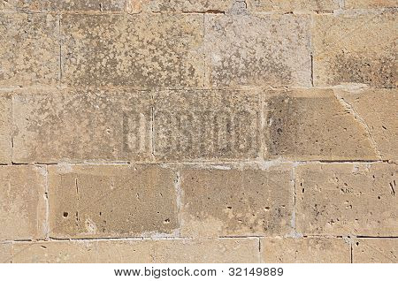 braun Wand Natur Steine