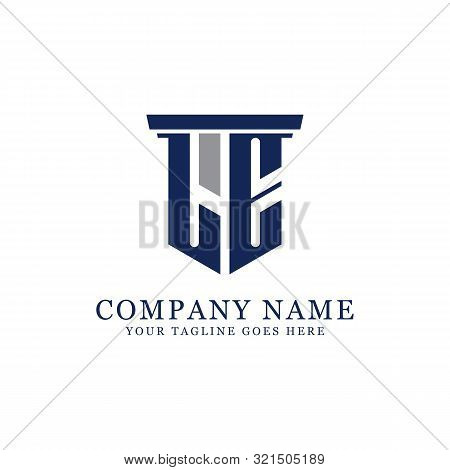 L E Initial Logo Designs Inspiration, Le Logo Vector, Can Used Firm, Finance, Sport Logo Template