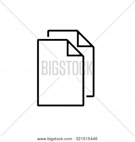 Document Icon, Flat Illustration Of File Copy, Duplicate Sign Symbol – Vector poster