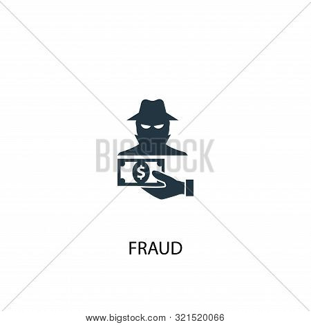 Fraud Icon. Simple Element Illustration. Fraud Concept Symbol Design. Can Be Used For Web