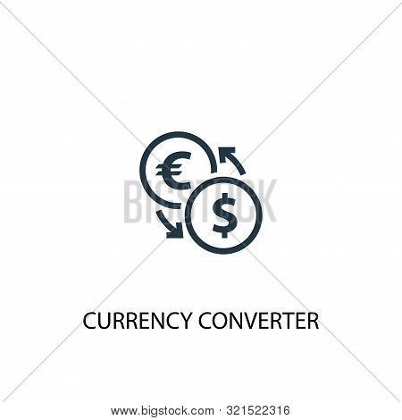 Currency Converter Icon. Simple Element Illustration. Currency Converter Concept Symbol Design. Can