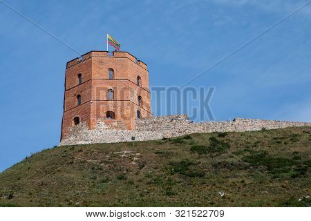 Gediminas' Tower Or Castle In Vilnius, Lithuania