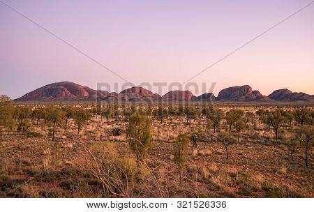 Northern Territory State, Australia-23-august-2015 : The Spectacular Landscape Of Kata Tjuta (mt.olg