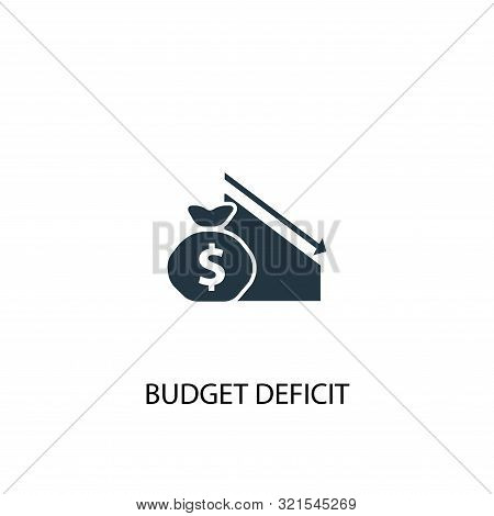 Budget Deficit Icon. Simple Element Illustration. Budget Deficit Concept Symbol Design. Can Be Used