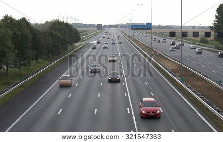 Hoofddorp, The Netherlands, July 20, 2019 - Highway Leading To Schiphol, The Largest Airport In The