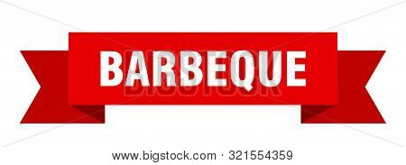 Barbeque Ribbon. Barbeque Isolated Sign. Barbeque Banner