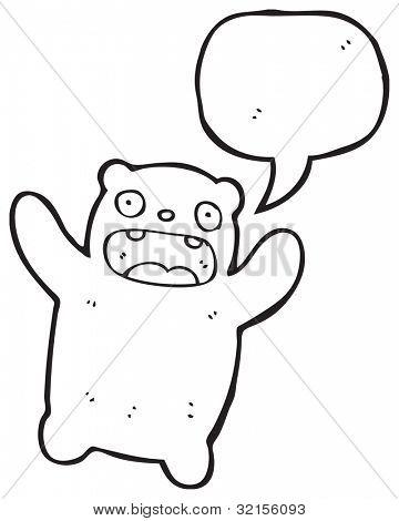 cartoon crazy teddy bear poster