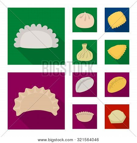 Isolated Object Of Products And Cooking Logo. Collection Of Products And Appetizer Stock Symbol For