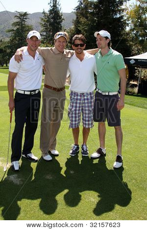 LOS ANGELES - APR 16:  Kyle Lowder, Jack Wagner, Brandon Beemer at the The Leukemia & Lymphoma Society Jack Wagner Golf Tournament at Lakeside Golf Course on April 16, 2012 in Toluca Lake, CA