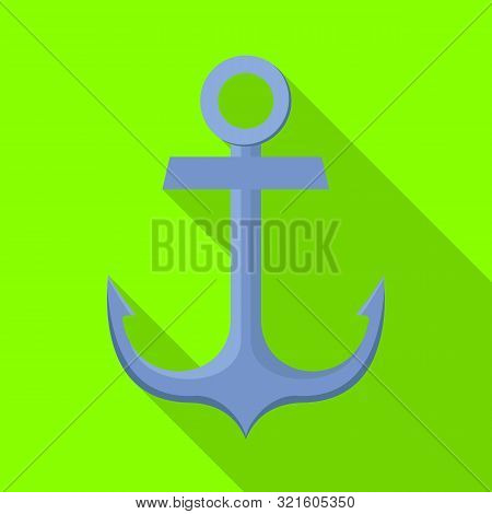 Isolated Object Of Anchor And Naval Symbol. Collection Of Anchor And Maritime Vector Icon For Stock.