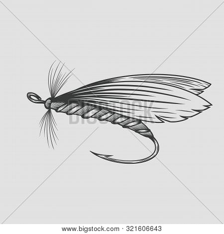 Fly Fishing Fly Fishing, Vintage Engraved. Vector Illustration.
