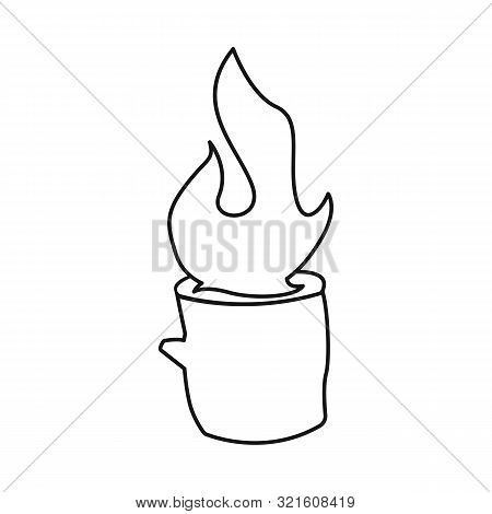 Vector Illustration Of Blaze And Fiery Sign. Set Of Blaze And Blazing Vector Icon For Stock.