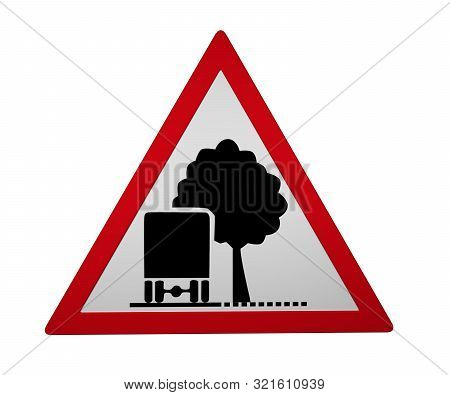 Traffic Signs: Insufficient Lighting Profile, 3d Rendering Isolated On White