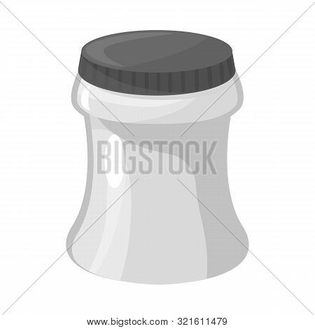 Vector Design Of Container And Soda Sign. Set Of Container And Nonalcoholic Stock Vector Illustratio