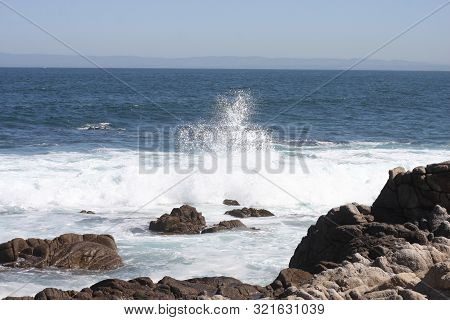 This Is An Image Of The Coastline Of Pacific Grove, California.