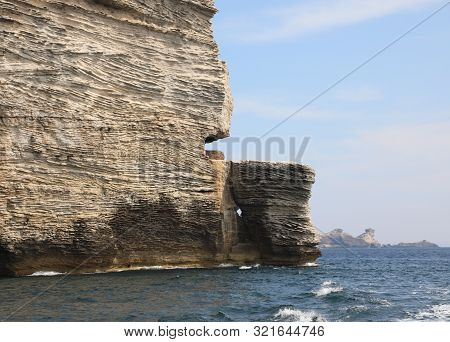 Big Stack Rocks Called Helm In Corsica Island And The Mediterranean Sea